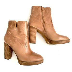 Lucky Brand Leather Platform Quintei Bootie